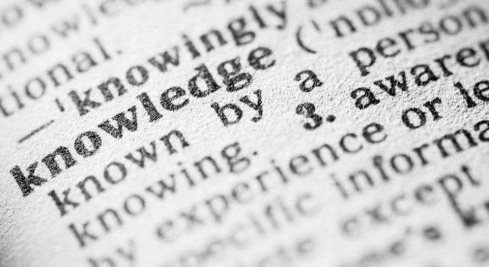 Dictionary definition of Knowledge